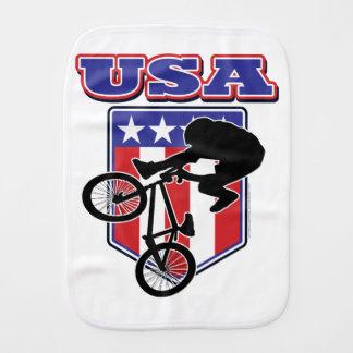 USA-BMX Biker Burp Cloth