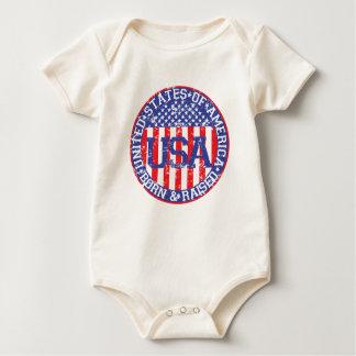 USA Born and Raised Baby Bodysuit