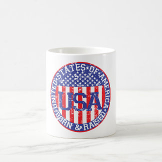 USA Born and Raised Basic White Mug