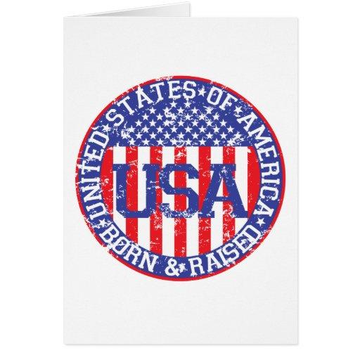 USA Born and Raised Greeting Card