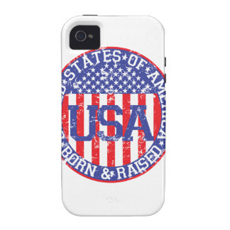 USA Born and Raised Vibe iPhone 4 Cover