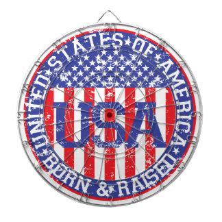 USA Born and Raised Dart Board