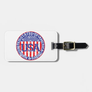 USA Born and Raised Tags For Bags