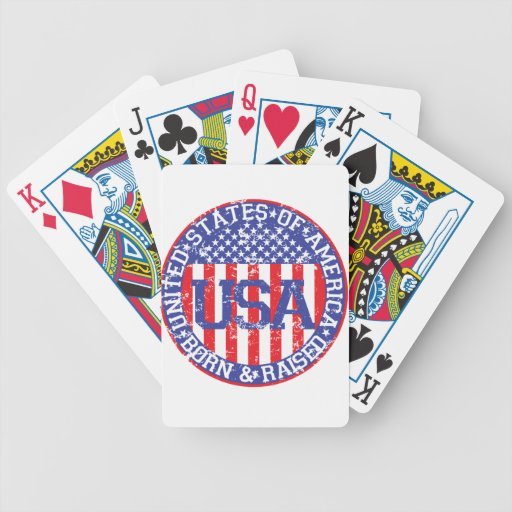 USA Born and Raised Bicycle Poker Cards