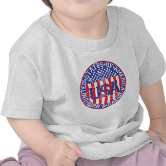 USA Born and Raised Tee Shirts