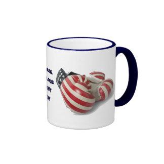 USA Boxing Gloves Ringer Coffee Mug