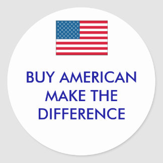 usa, BUY AMERICANMAKE THE DIFFERENCE Stickers