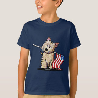 USA Cairn Terrier Kids Dark T-Shirt