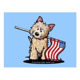USA Cairn Terrier Postcard