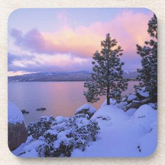 USA, California. A winter day at Lake Tahoe. Beverage Coasters