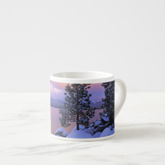 USA, California. A winter day at Lake Tahoe. Espresso Cup