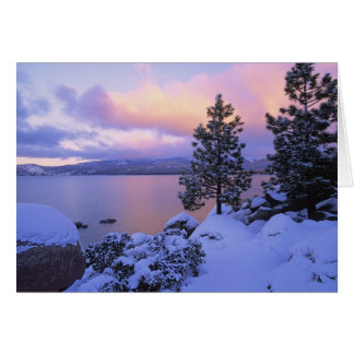 USA, California. A winter day at Lake Tahoe. Greeting Card