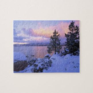 USA, California. A winter day at Lake Tahoe. Jigsaw Puzzles