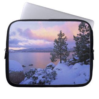 USA, California. A winter day at Lake Tahoe. Laptop Sleeves
