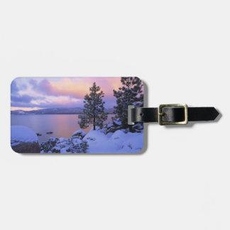 USA, California. A winter day at Lake Tahoe. Travel Bag Tag