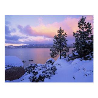 USA, California. A winter day at Lake Tahoe. Postcard