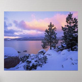 USA, California. A winter day at Lake Tahoe. Poster