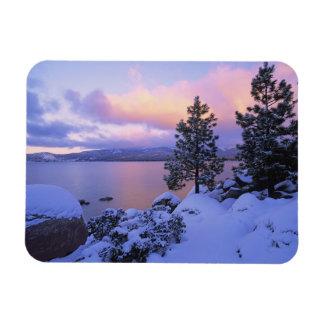 USA, California. A winter day at Lake Tahoe. Rectangular Photo Magnet