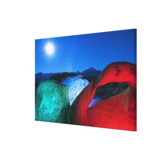 USA, California, Alabama Hills, Night photo of Canvas Print