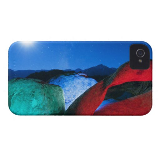 USA, California, Alabama Hills, Night photo of Blackberry Case