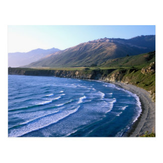 USA, California, Big Sur, bay along Highway 1. Postcard
