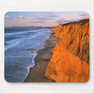 USA, California, Cliffs At Pescadero State Beach Mouse Pad