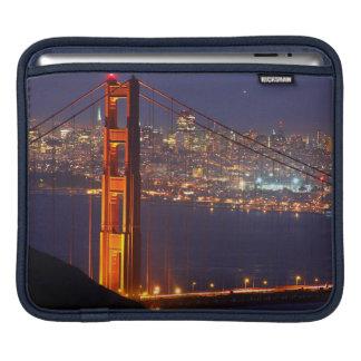 USA, California. Golden Gate Bridge At Night Sleeves For iPads