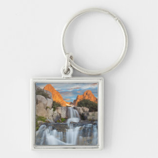 USA, California, Inyo National Forest 2 Silver-Colored Square Key Ring