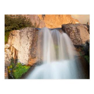 USA, California, Inyo National Forest. Waterfall Postcard