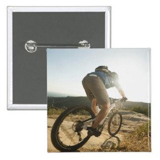 USA, California, Laguna Beach, Mountain biker 15 Cm Square Badge