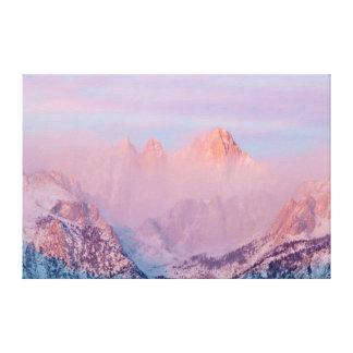 USA, California, Lone Pine. Sunrise Gallery Wrap Canvas
