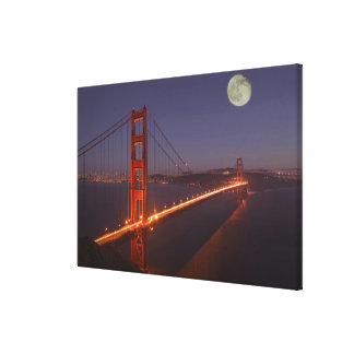 USA, California, Marin. Moonrise above the Gallery Wrap Canvas