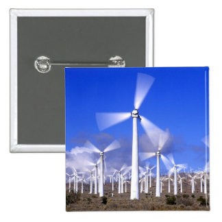 USA, California, Mojave. View of a wind turbine 15 Cm Square Badge
