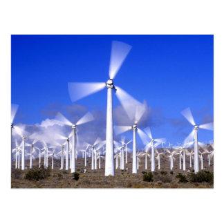 USA, California, Mojave. View of a wind turbine Postcard