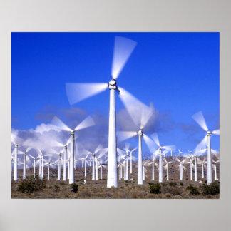 USA, California, Mojave. View of a wind turbine Poster