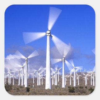 USA, California, Mojave. View of a wind turbine Square Sticker