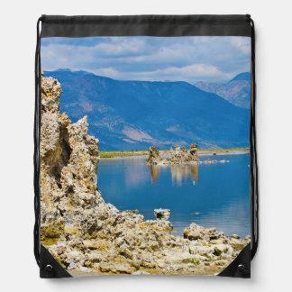 USA, California, Mono Lake South Tufa Reserve Drawstring Backpacks