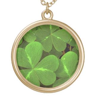 USA, California, Muir Woods. Close-up of clover Round Pendant Necklace