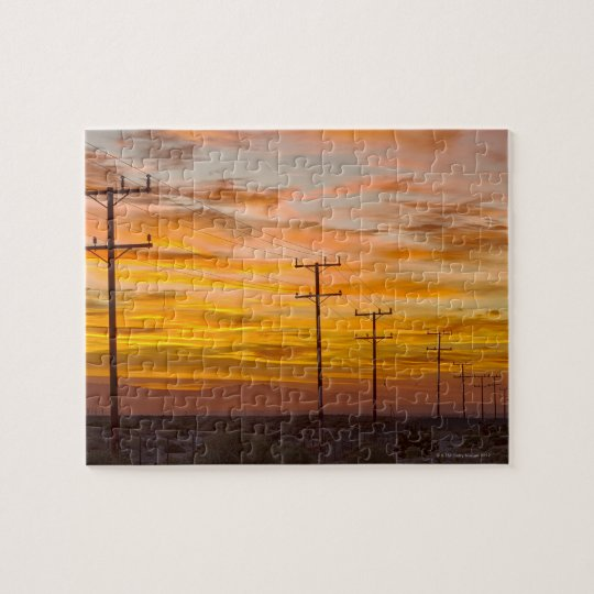 USA, California, Palm Springs, power line at 2 Jigsaw Puzzle