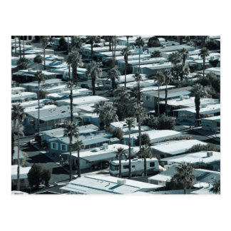 USA, California, Palm Springs. Trailer Park on Postcard