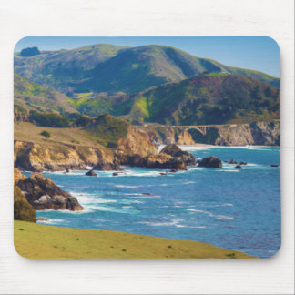 USA, California. Panorama Of Big Sur With Bixby Mouse Pad