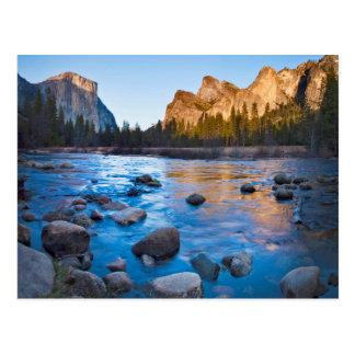 USA, California. Rocky Reflections In Merced Postcard