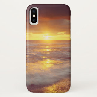 USA, California, San Diego. Sunset Cliffs beach iPhone X Case