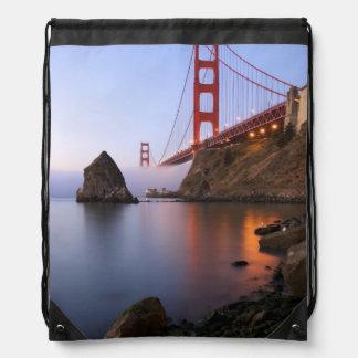 USA, California, San Francisco. Golden Gate Drawstring Backpack