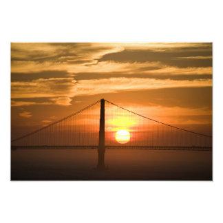 USA. California. San Francisco. Sun setting Photo