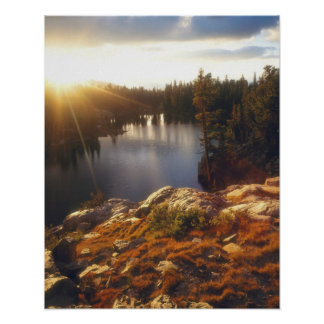 USA, California, Sierra Nevada Mountains. Sunset Poster