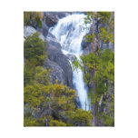 USA, California. Small Waterfall In Yosemite Stretched Canvas Print