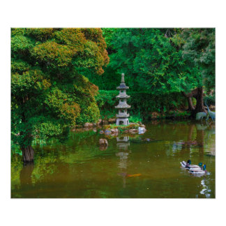 USA, California. View Of A Pond Poster