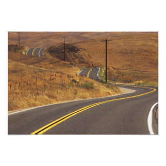 USA, California. Winding country road. Credit Photo Art