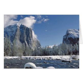 USA, California, Yosemite NP. The Merced River, Card